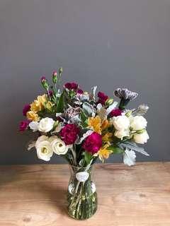 Fresh Flowers Vase or Bouquet