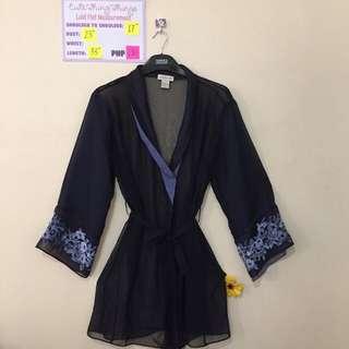 Jones New York Chiffon and Satin Night Robe