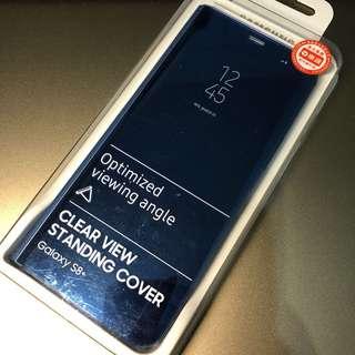 全新只有拆開看看-Samsung Galaxy S8+ 原廠透視感應皮套(藍)