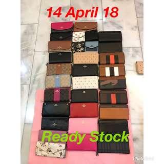 (Ready Stock 14/4/18) Original Coach women Wallet