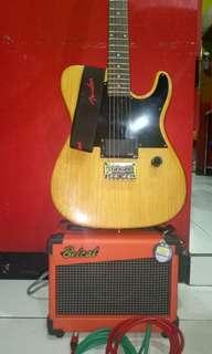 Guitar elektrik fender telecaster ( costume )