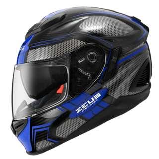 ZEUS ZS-1600 Carbon Fiber AK3 BLUE FullFace
