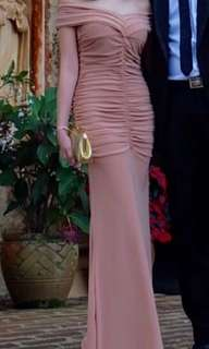 Nude long gown