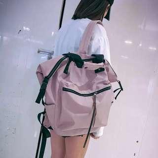 🚚 韓系 韓妞必備運動休閒風大後背包手提包運動包旅行包 預購