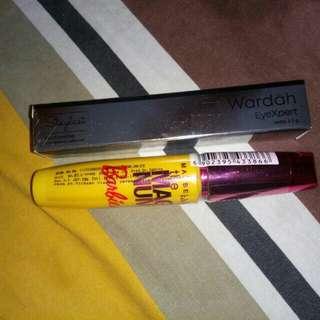 Eyeliner wardah & mascara Maybelline