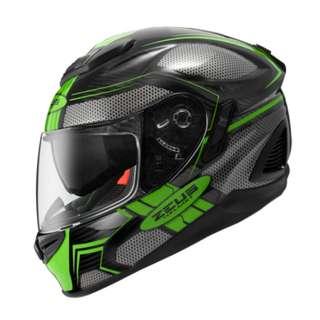 ZEUS ZS-1600 Carbon Fiber AK3 GREEN FullFace
