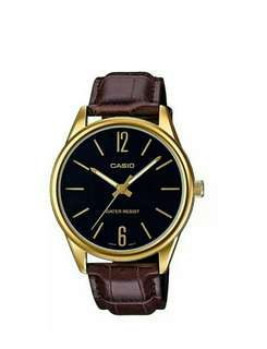Authentic casio leather band mens watch MTP-V005GL-1BUDF with 1 yr warranty
