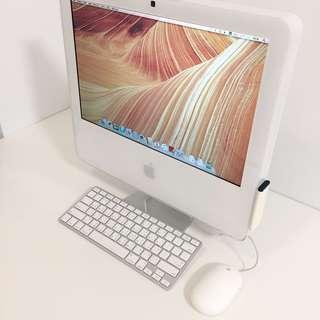 絕版 收藏 開機正常 Apple iMac Core 2 Duo 2.0GHz 17吋 雙核心一體機 含紙箱外包裝