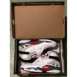 正版 二手 Nike Air Jordan 8 AJ AJ8 Retro OG Color White Black True Red US10 (殘盒)