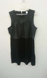 H&M leather top dress