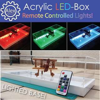 LED Acrylic Box - Customised Light Box Display Casing with RGB Remote Control!