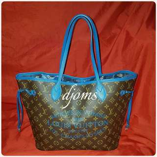 ✔LIMITED LOUIS VUITTON LV NEVERFULL MM MONO VOYAGE TOTE BAG