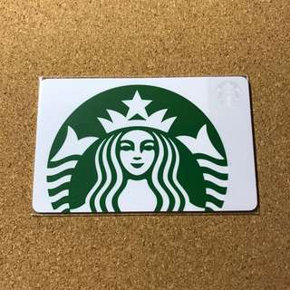 USA Starbucks Classic White Siren Card