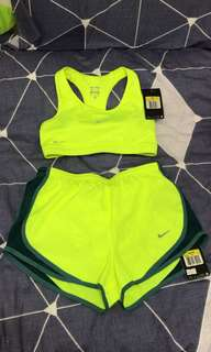 Nike sports bra($100) and running pants ($100) both size s