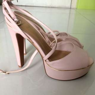 Charles and Keith - baby pink high heels