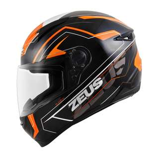 ZEUS ZS-811 AL5 BLACK-ORANGE FULLFACE
