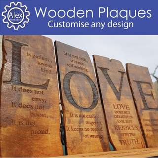 Customised Laser Engraving on your Wooden Plaques and Signages