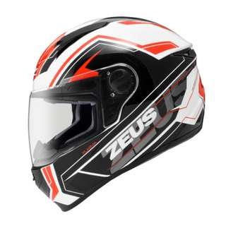 ZEUS ZS-811 AL5 WHITE-RED FULLFACE