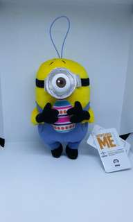 "Limited Edition 5"" Sega Universal Studios Despicable Me Easter Egg Minion Carl Figurine Plush Stuffed Soft Toy Keychain Bag Charm"