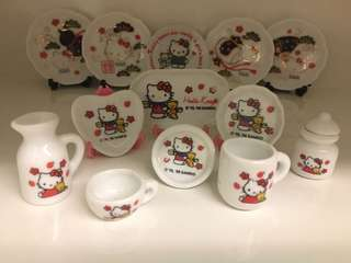 開心Share-@1998 Hello Kitty mini tea set 迷你陶瓷