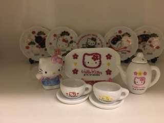 開心Share-@1997 Hello Kitty mini tea set 迷你陶瓷