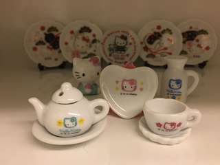 開心Share-@1997 Hello Kitty mini tea set 迷你陶瓷