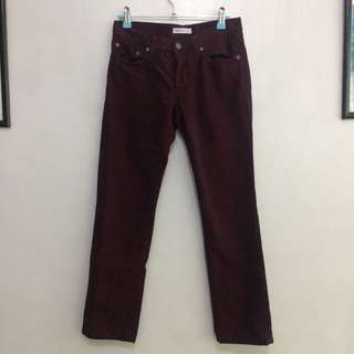 See by Chloe maroon straight jeans