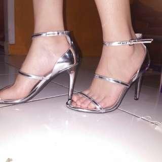 Heels Silver plateado argent