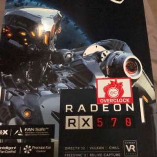 顯卡MSI AMD RX570 ARMOR 8GB OC GDDR5 雙風扇