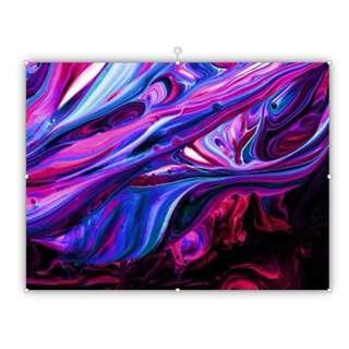 Fluid Purple Creative Abstract, Canvas Print Wall Art
