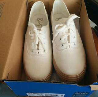 Keds White Gold Triple Shimmer Original