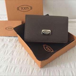 [New] Authentic Tod's Contrasting Leather Business Card Holder