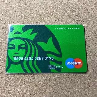 Turkey Starbucks Green Siren Credit Card 2014 / 2017