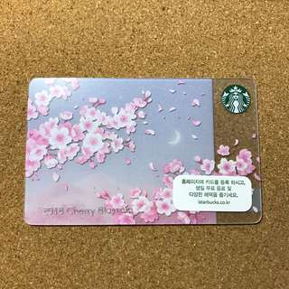 Korea Starbucks Sakura Cherry Blossom Card 2018