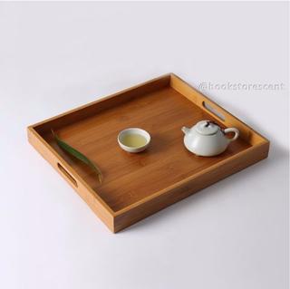 Instock Minimalist Japanese Wooden Bamboo Tray