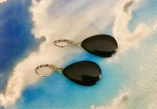 These Uniquely Handcrafted Blue Sandstone Earrings are Beach Ready!