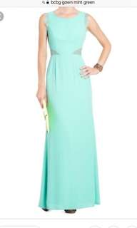 BCBG Mint Green gown