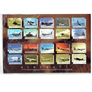 2nd Offer : - Singapore Miniature Sheet Featuring Aeroplanes Which have flown over Singapore Sky