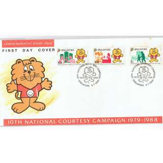 FDC #326  10th National Coourtesy Campaign 1979 - 1988