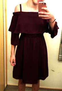Stella burgundy dress