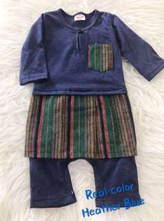 Romper Baju Melayu (heather blue)