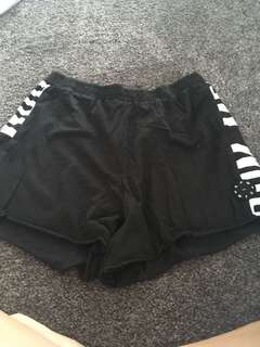 Black and White RPM Shorts