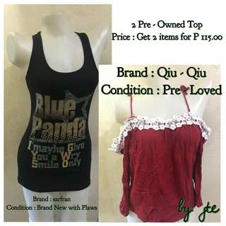 2 Pre - Owned Top