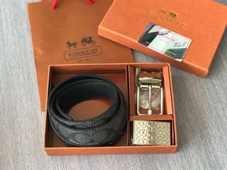 Coach full leather belt
