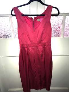 Veronica Maine Pink Silk Dress