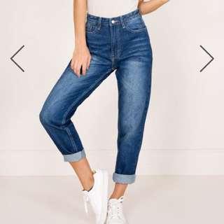 Showpo mom jeans NWT