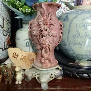 Old Jade/Stone carving vase