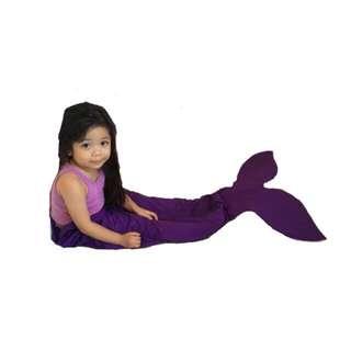 Kiddie mermaid tail blanket