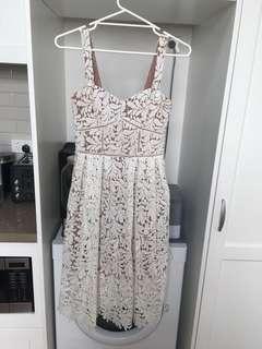 Portmans White Lace Dress sz 8