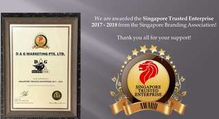 Just Conferred 2017 - 2018 Singapore Trusted Enterprise Award